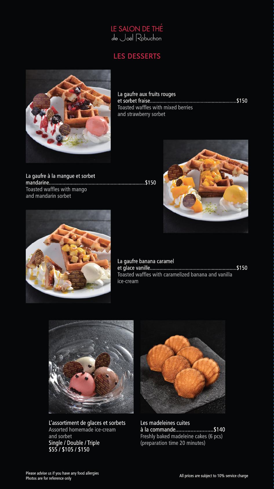 LE SALON DE THÉ (ifc mall) menu – L\'Atelier HK